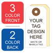 Picture of 3/2 Custom Printing on #8 White or Manila Tag Stock