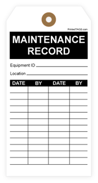 Picture of Custom Inspection Record Tag (1000/Box)