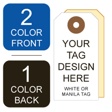 Picture of 2/1 Custom Printing on #1 White or Manila Tag Stock