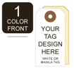 Picture of Growler Tag 1-Color Custom Printing One Side