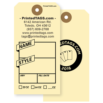 Picture of Growler Tag Personalized Two Sides