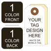 Picture of Growler Tag 1-Color Custom Printing Two Sides